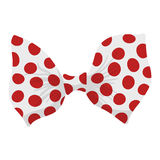 Cartoon bow red sign Royalty Free Stock Images
