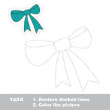 Cartoon bow to be traced Stock Images