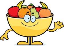 Cartoon Bowl of Fruit Waving Stock Photo