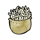 Cartoon bowl of noodles Royalty Free Stock Images