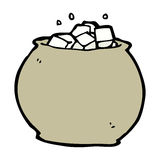 Cartoon bowl of sugar Stock Images