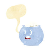 cartoon bowl of sugar with speech bubble Royalty Free Stock Images