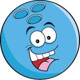 Cartoon bowling ball Stock Image
