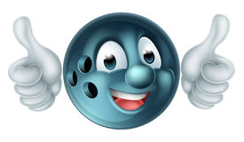 Cartoon Bowling Ball Character Stock Image