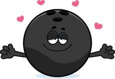 Cartoon Bowling Ball Hug Royalty Free Stock Images