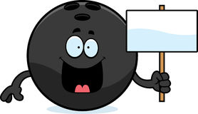 Cartoon Bowling Ball Sign Royalty Free Stock Photos