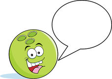 Free Cartoon Bowling Ball With A Caption Balloon Stock Photos - 29905543