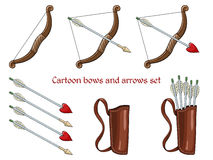 Cartoon bows and arrows Stock Image