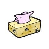 Cartoon box of tissues Royalty Free Stock Photo
