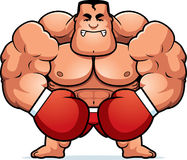 Cartoon Boxer Angry Royalty Free Stock Image