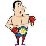 Cartoon Boxer Royalty Free Stock Photos