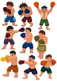 Cartoon boxer icon Royalty Free Stock Photography