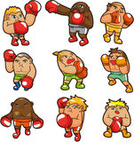 Cartoon boxer icon Stock Photos