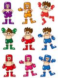 Cartoon boxer icon Royalty Free Stock Image