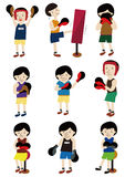 Cartoon boxer icon set Stock Photography