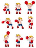 Cartoon boxer icon set Royalty Free Stock Photography