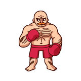 Cartoon boxer illustration Royalty Free Stock Photography