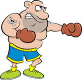 Cartoon boxer punching. Stock Photo