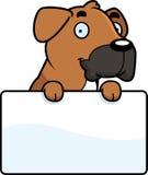 Cartoon Boxer Sign Stock Photo