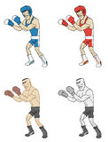 Cartoon boxers Royalty Free Stock Photography