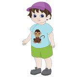 Cartoon boy Stock Image