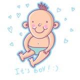 Cartoon boy. Beautiful child - cartoon boy in Stock Photos