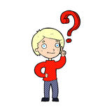 cartoon boy asking question Stock Photos