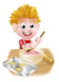 Cartoon Boy Baking Stock Images