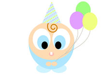 Cartoon boy with balloons Stock Photos