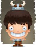 Cartoon Boy Barbarian Smiling. A cartoon illustration of a boy barbarian smiling Royalty Free Stock Photos