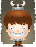 Cartoon Boy Barbarian Smiling. A cartoon illustration of a boy barbarian smiling Stock Photography