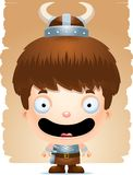 Cartoon Boy Barbarian Smiling. A cartoon illustration of a boy barbarian smiling Stock Photo
