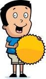 Cartoon Boy Burst Sign Stock Photo