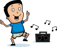 Cartoon Boy Dancing Stock Images