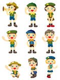 Cartoon boy/girl scout icon Stock Image