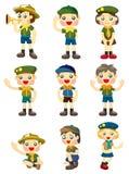 Cartoon boy/girl scout icon Stock Image