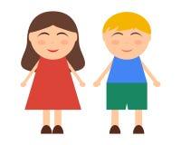 Cartoon boy and girl Royalty Free Stock Photography