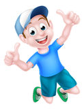 Cartoon Boy Giving Thumbs Up Royalty Free Stock Images