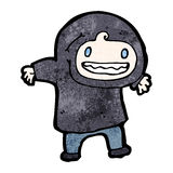 Cartoon boy in hooded sweatshirt Royalty Free Stock Images