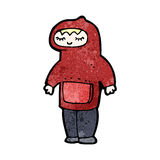 Cartoon boy in hooded top Stock Images