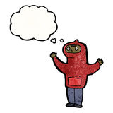 Cartoon boy in hooded top cartoon Stock Images