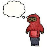 Cartoon boy in hooded top cartoon Stock Photo
