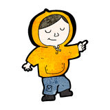 Cartoon boy in hooded top Royalty Free Stock Image
