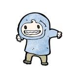 Cartoon boy in hooded top Royalty Free Stock Image