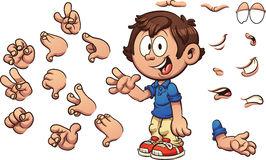 Cartoon boy Stock Photo