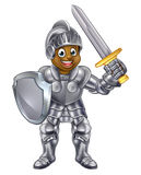 Cartoon Boy Knight Stock Image