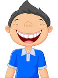 Cartoon boy laughing Stock Images