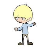 Cartoon boy with outstretched arms Royalty Free Stock Photo