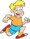 Cartoon boy running Stockbild