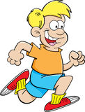 Cartoon boy running Stock Image